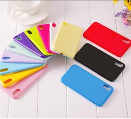 thinnest phones Australia - Candy Jelly Phone Case 15 Colors Shockproof TPU Phone Cover Ultra Thin Soft Silicone Phone Shell Colorful Back Cover For iPhone Free DHL