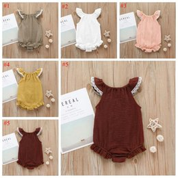 Flying o online shopping - Kids Clothes Baby Girl Summer Rompers INS Girls Lace fly sleeve Romper Newborn infant ruffle Jumpsuits Boutique Kids Climbing clothes E371