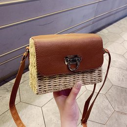 Hand Made Bags Style Australia - 2019 latest hand-made straw ethnic style square shoulder temperament wild high quality fashion Messenger bag