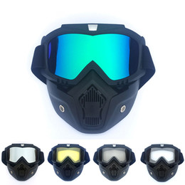 $enCountryForm.capitalKeyWord NZ - Men Women Retro Outdoor Cycling Mask Goggles Snow Sports Skiing Full Face Mask Glasses for Outdoor Cycling