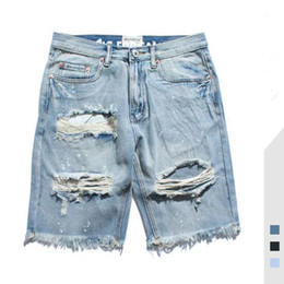 denim court haut achat en gros de-news_sitemap_homeJeans Hommes d été New High Street Distrressed Washed Solide Couleur Homme Denim Shorts Trou Jeans Taille asiatique S XL