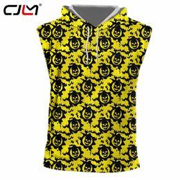 $enCountryForm.capitalKeyWord NZ - CJLM Factory Direct Supply Original Sample Design 3D Yellow Skull Print Hooded Tank Top Oversized Vest Wholesale