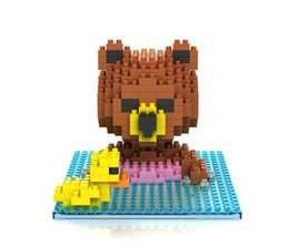 Intelligent Cartoons Australia - 350pcs Diamond Blocks Cartoon Bear Building Construction Toys Swimming Bathing bear Assembling building blocks intelligent toys