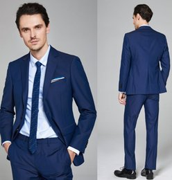 $enCountryForm.capitalKeyWord Australia - New Fashion Handsome Groom Tuxedos Shawl Lapel Two Button Three Pockets Groom Suits Extremely Cool Best Man Suits (Jacket+Pants)DH6204