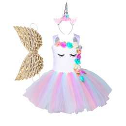 $enCountryForm.capitalKeyWord UK - Ins explosion models Europe and the United States cross-country children's skirts Unicorn princess dress Girls dress children's mesh tutu