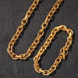 $enCountryForm.capitalKeyWord Australia - Designer Gold Silver Stainless Steel Hip Hop Link Chain Necklace Chains Bracelets for Men Hip Hop Rapper Street Dancer Bijoux Mens Jewelry