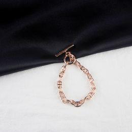 $enCountryForm.capitalKeyWord NZ - Women Luxury Pig Nose Bracelet Woman Rose Gold Valentine's Day Bracelets Fine Jewelry on Sale