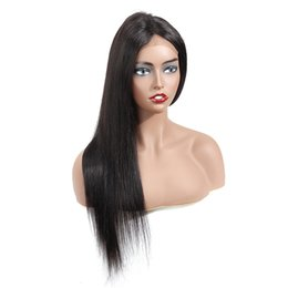 unprocessed hair wigs Australia - 4x13 Lace Front Straight Human Hair Wigs 8-20inch Nature Color Brazilian Straight Hair Wigs Unprocessed Swiss Lace Frontal Wigs