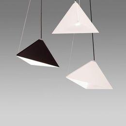 $enCountryForm.capitalKeyWord Australia - triangular pyramid suspension lamp dinning room living room metal pendant light hotel hall restaurant hanging lighting