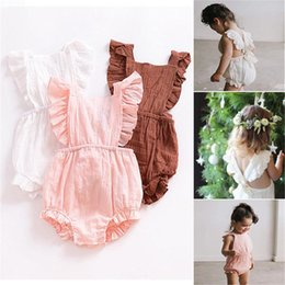 $enCountryForm.capitalKeyWord Australia - Fashion New New Kids Girl Sweet Cotton Butterfly Sleeve Romper Jumpsuit New Fashion Baby Clothing   Accessories