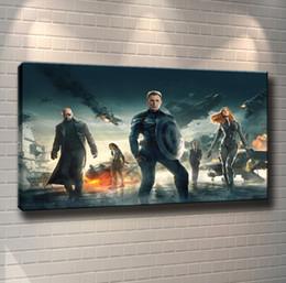 Figure Paintings America Australia - Captain America 2,Home Decor HD Printed Modern Art Painting on Canvas (Unframed Framed) 24x42.