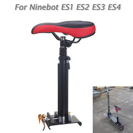 $enCountryForm.capitalKeyWord Australia - Adjustable Foldable Saddle Seat Black&Red For Ninebot KickScooter ES1 ES2 ES3 ES4 Electric Scooter