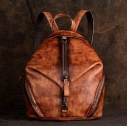 $enCountryForm.capitalKeyWord Australia - Cowhide Retro Backpack Women Genuine Leather Big Capacity Knapsack Female Vintage Factory Direct Sales Zip Handbag Packsack