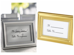 chinese wedding guest gifts NZ - (20Pc lot) Wedding Decoration craft of Silver and Gold Photo Frame Also as Place card Holder For Party Favors and Guest Gifts