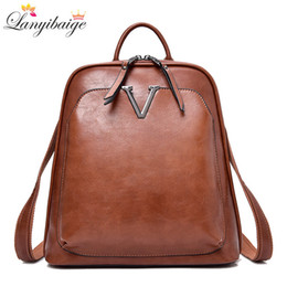 high quality backpack brands Australia - New Vintage Women Backpack High Quality Leather Brand Female Shoulder Bag Lady Multifunction Backpack Hot School Bags For Girls Y19051405