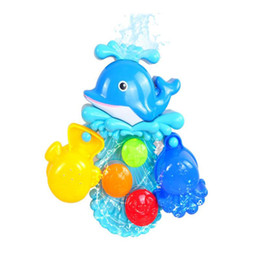 Chinese  Baby Bubble Bath Toy Bubble Dolphin Toy For Children Water for Baby Shower Swimming Toys Kids Gift Drop Shipping Sale manufacturers