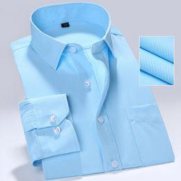$enCountryForm.capitalKeyWord Australia - Men's Professional Work Shirts Slim Fit Long Sleeve Square Collar Solid  Striped  Twill Formal Men White Dress Shirts 5XL #693802