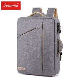 Discount man fashion school back pack - Anti theft Backpack Men Business School Back Pack Laptop Backpacks Water Resistant Lightweight Canvas Bag Fashion School