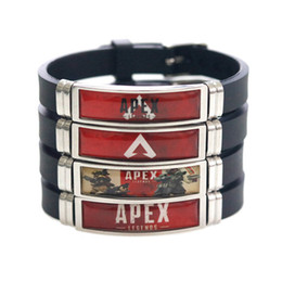 $enCountryForm.capitalKeyWord UK - Apex Legends Bracelet Colorful Stainless Steel Game Logo Printing Silicone Bracelets Men Women New Arrival Fashion Cuff Jewelry Wholesale