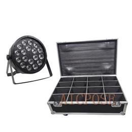 $enCountryForm.capitalKeyWord Australia - 16Pcs lots 18x12W Led Par Lights RGBW 4in1 Flat Par Led With Flight Case DMX512 Disco Lights Professional Stage Equipment