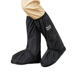 $enCountryForm.capitalKeyWord Australia - Willow Valley Knee-High Waterproof Shoes Covers Mans Black Motorcycle PVC Rain Boots Keep Your Shoes Dry and Clean in Rainy Days