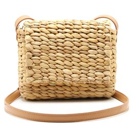 $enCountryForm.capitalKeyWord Australia - NEW-Hot Summer Women Shoulder Bag Hand Made Exquisiteness Straw Bags Mini Woven Flap Sweet Pastoral Rattan Girls Bag