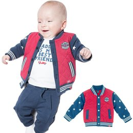 Infant Woolen Australia - Baseball Jacket for Boys Spring Autumn Fashion Toddler Boy Coat Long Sleeve Baseball Uniform Outerwear Infant Clothes 1-3 Years