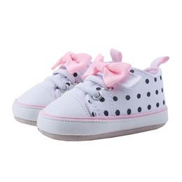 $enCountryForm.capitalKeyWord Australia - Shoes For Newborns Baby Girls Boys Canvas Sneaker Anti-slip Soft Sole Shoes Baby Bow Polka Dot Canvas Shoe schoenen A1