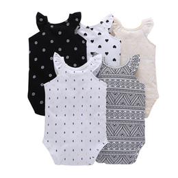 Boys Sleeveless Vest Australia - Sleeveless Sale Baby Girls O-neck O Newborn Girl Boy Baby Clothing Rompers 2019 New Collar Vest Cotton Fashion Clothes Climbing Y19061201