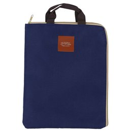 Big Bags storage online shopping - Simple Solid A4 Big Capacity Document Bag Business Briefcase Storage File Folder for Papers Stationery Student Gift Blue