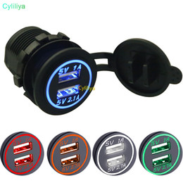 waterproof motorcycle usb power socket Australia - 5V 4.2A Universal Car Charger Waterproof Dual USB Port 12-24V Socket for Bus Boat Motorcycle