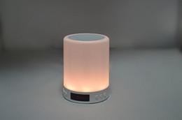 Portable Bedside Table Australia - High quality multi-color Light Bluetooth Speakers Portable Music Speaker Smart TouchControl LED Bedside Table Lamp Speakerphone TF Card