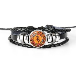 $enCountryForm.capitalKeyWord NZ - Minimalist Silver Color Link Chain Bracelets & Bangles For Women Men Friendship 12 Zodiac Dragon Time Gem Glass Cabochon Charm Jewelry Gifts