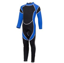 diving suit 3mm UK - Foreign trade children's diving suit 3mm thick student swimwear winter swimming cold warm sunscreen jellyfish beachwear