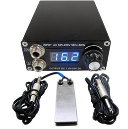 free foot clips 2019 - Professional Digital Dual Black Tattoo Power Supply Kit With 1pcs Foot Pedal Switch & 1pcs Clip Cord Free Shipping cheap