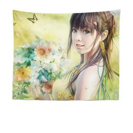$enCountryForm.capitalKeyWord Australia - European and American tapestry canvas painting beautiful women tapestry background cloth tablecloth girl heart bedroom decorative cloth art
