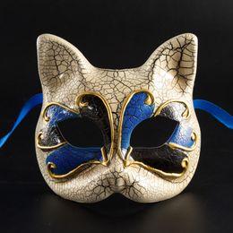 $enCountryForm.capitalKeyWord Australia - Halloween Party Decorative Mask Children 's Cute Cat Masks Venice New Style Crack Upper Half Face Masks