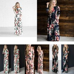 b56677d8443 plus size floral print maternity dresses 2019 - 5 Colors maternity pregnant  clothes floral printed women