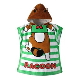 animals pajamas infant Canada - SAGACE Robes infant robe for children Sleepwear Robe child Baby Towel bathrobe Cartoon Animals Hooded Bath Towel Pajamas 19May28