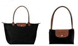 Новый стиль, модные женские сумки, сумка из нейлона, в сложенном виде, французская сумка, размер S M L XL на Распродаже