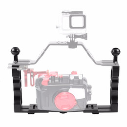 $enCountryForm.capitalKeyWord Australia - Handle Aluminium Alloy Tray Stabilizer Rig for Underwater Camera Housing Case Diving Tray Mount for DSLR Camere