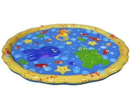 Vente en gros Kids Play Tapis d'extérieur gonflables Sprinkler Tapis Fun pulvérisation d'eau Mat Splash Tapis eau Tout-petit bébé Piscine YW3656L