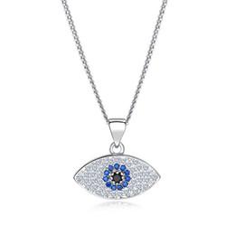 $enCountryForm.capitalKeyWord Australia - 2019 Lucky Evil Eye Pendant Necklace Women 18K Gold Plated Platinum chains Zircon Turkish Jewelry Turkey Blue Eyes Charm Necklaces