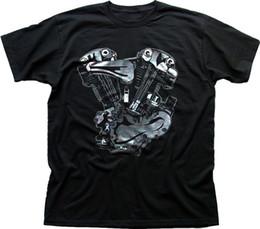 $enCountryForm.capitalKeyWord Australia - V-Twin Motorcycle engine Harley Indian black printed t-shirt FN0209 summer o neck tee, free shipping cheap tee,2019 hot tees