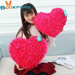 $enCountryForm.capitalKeyWord NZ - Rose Heart Shape Plush Toy Wedding Decoration Soft Pillows Home Decor Valentine's Day Gifts