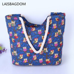 Cute Canvas Handbags Australia - Cute Owl Large Canvas Shopping Tote Bag Big Shoulder Bags For Woman Bag Summer Beach Handbag Women Messenger Fashion