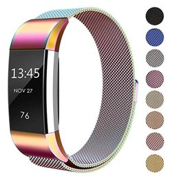 $enCountryForm.capitalKeyWord Australia - ASHEI Milanese Loop Watch Strap For Fitbit Charge 2 Bands Stainless Steel Magnet Lock Metal Wristband Women Men Large Small