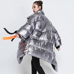 longest weave length 2019 - 2019 New Ribbons Women's Winter Down Jackets Stand Collar Long Sleeve Asymmetric Puffer Jacket Female Fashion Cloth