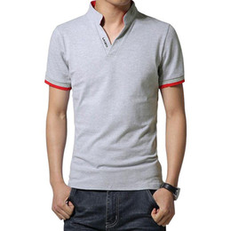 $enCountryForm.capitalKeyWord Australia - Brand New Mens T Shirt Slim Fit V Neck T-shirt Men Short Sleeve Shirt Casual tshirt Tops Tees Mens Clothing Size M-5XL