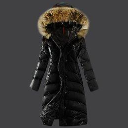 Wholesale black jacket raccoon fur hood resale online - Female Jacket Large Real Raccoon Fur Winter Jacket Women Warm Thicken Hood Winter Coat Women s Cotton Down Parka Plu